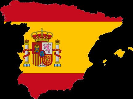 mapa spanija