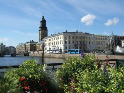 Christine_church_and_town_hall_in_Gothenburg,_Sweden